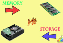 Difference Between Memory and Storage